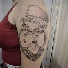 Nefertiti Feita Na Carol E Na Camila New School Tattoo