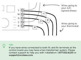 how to install ecobee lite no c wire available ecobee support or w1 wires the matching labels provided if you have more than one wire going into these terminals only label those coming from your thermostat