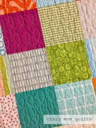 crazy mom quilts: June 2014 & This quilt has larger patchwork, with squares that finish at 4