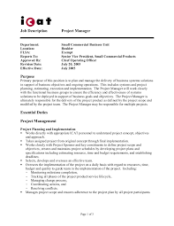 gallery of 12 project manager job description small business manager job description