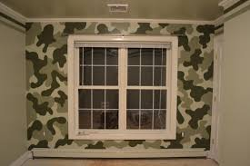a nice camouflage accent wall for young boy s room paint homedecor boy