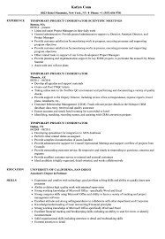 Temporary Project Coordinator Resume Samples Velvet Jobs
