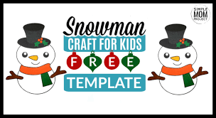Cut Out Character Template Printable Christmas Snowman Craft With Free Template