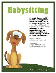 Babysitting Flyer Template Microsoft Word Free Babysitting Flyer With Puppy Babysitting Flyers