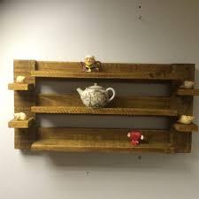 rustic oak handmade pallets wood wall bookshelf aweinspiring