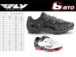 Racing Shoe Size Chart Fly Racing Talon Ii Shoe Bicycle Color Black Size 8