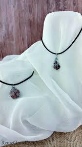 diy rock wire jewelry necklace