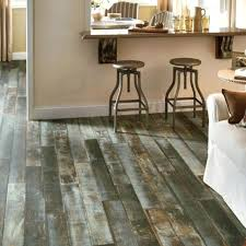 cutting rigid core vinyl flooring residential strip wood look azure sea