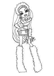 Small Picture Free Printable Monster High Coloring Pages Abbey Bominable