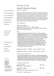 Resume Examples Teacher Gorgeous Physical Education Teacher Resume Examples Of On Example Special R