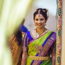 pretty south indian bride iyengar bride bridal gold jewellery bridal makeup silk