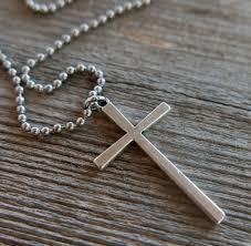 men s cross necklace men s religious necklace