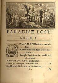 the beginning of paradise lost from a 1720 ilrated edition not a first edition but desirable among antiquarians