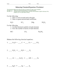 awesome balancing chemical equations chapter 7 worksheet balancing chemical equations chapter 7 worksheet 1 worksheet full