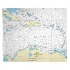 Caribbean Sea Nautical Chart Blanket In 2019 Blanket