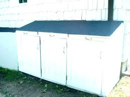 garbage can storage indoor trash sheds outdoor shed wo