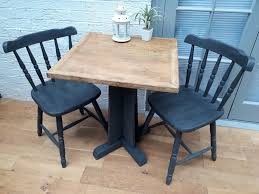 2 x sets available fab cruciform bistro dining table and 2 farmhouse chairs solid
