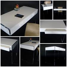 NEW WHITE DESK (WHITE AND CLEAR ACRYLIC) ADDED TO AARON R THOMAS ONLINE  BOUTIQUE