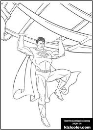 All of it in this site is free, so you can print them as many as you like. Superman Holds That Iron Coloring Page Kizi Free 2021 Printable Super Coloring Pages For Children Superman Super Coloring Pages