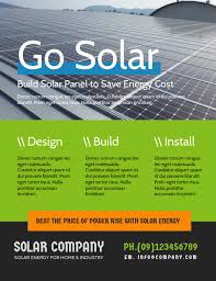 Handbill Template Solar Energy Flyer Template Postermywall