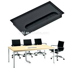full image for computer desk table grommet cable wire hole plastic cover gray aluminum alloy square