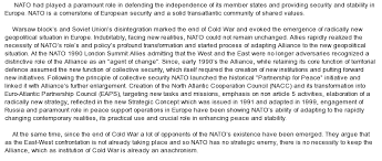 essay nato today is a strategic security and defense hub than can project both military and partnership power worldwide its mission is to protect the nations