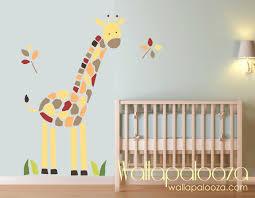 giraffe wall decal nursery kids room baby room giraffe