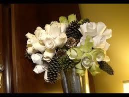Wedding Paper Flower Centerpieces Diy Paper Flower Arrangement Youtube