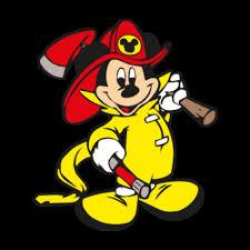 Mickey Mouse Fireman Logo Vector free image