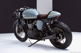 custom is king bunker custom cycles triumph bonneville cafe racer made with british customs upgrades