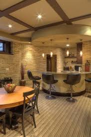 Basement Design Ideas Best Very Cool Basement Design A Curved Counter A Circular Soffit And