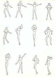 Costume Drawing Template Costume Design Drawing Template Of Nude Female Dance Poses Circa