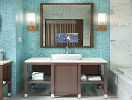 tv in bathroom mirror bathroom mirror electric mirror water resistant in the bathroom mirror tv behind