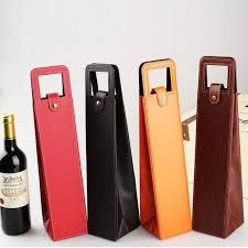 high quality leather wine tote bag red vino gift box garrafa wiji bottle packaging bags wine accessories bar supplies gifts for party guests gifts for