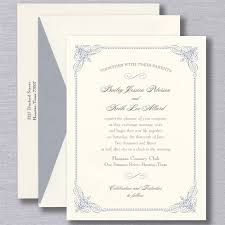 Wedding Invitatiins Truly French Blue Vintage Frame Warm White Wedding Invitation