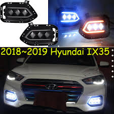 2013 Santa Fe Fog Light Replacement Us 83 6 5 Off Video Ix35 Daytime Light 2018 2019 Tucson Car Accessories Ix35 Headlight Santa Fe Accent Led Ix35 Fog Light Encino Solaris Ix 35 In