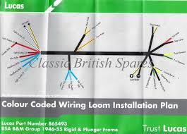 bsa rigid plunger models lucas wiring harness 865493 1946 55 1946 1955 bsa wiring diagram
