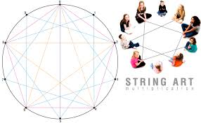Geometric String Art Patterns Enchanting E Is For Explore Math String Art