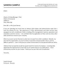 Job Cover Letters Examples Free Administrative Assistant Cover