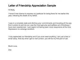 appreciation letter to a friend letter of friendship appreciation sample