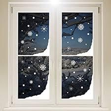 Decorazione Finestre Neve : Adesivi natalizi da finestra motivo fiocchi di neve e nevischio