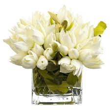 Tulip Floral Arrangements Snowdrop White Faux Floral Tulip Arrangement Home  Improvement Tulip Floral Arrangements For Weddings
