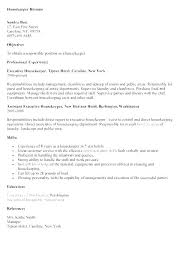 Housekeeping Resume Examples Beauteous Sample Resume Housekeeping Position Examples Best Ideas Of
