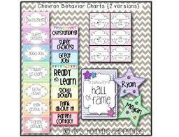 Chevron Behavior Color Chart 2 Versions