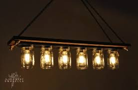 mason jar chandelier 31 super cool diy reclaimed wood projects
