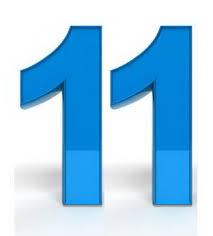 Number 11 - Clip Art Library