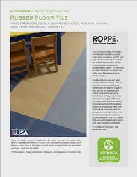 pdf of roppe rubber tile epd