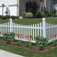 Scalloped vinyl picket fence Illusions Best Activeyards Vinyl Fencing Decorative Fence Primrose Scallop Activeyards