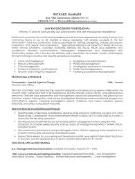Resume Example Law Enforcement Professional Experience Free Law
