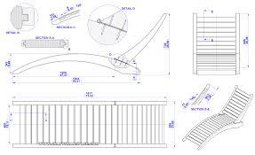 drawing furniture plans. Folding Sun Lounger Plan - Assembly 2D Drawing Furniture Plans G